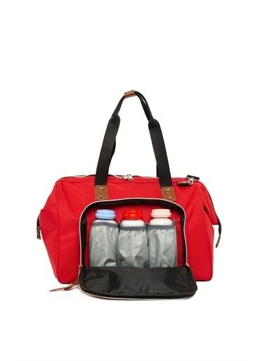 Bagmori Askılı Anne Bebek Bakım Çantası M000002154 Kırmızı